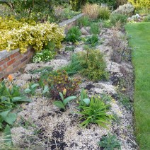 Hot bed with gravel mulch