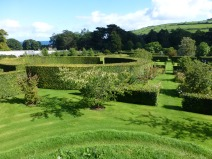 View from mound in walled garden.