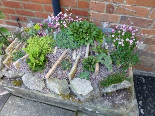 Small trough by front door